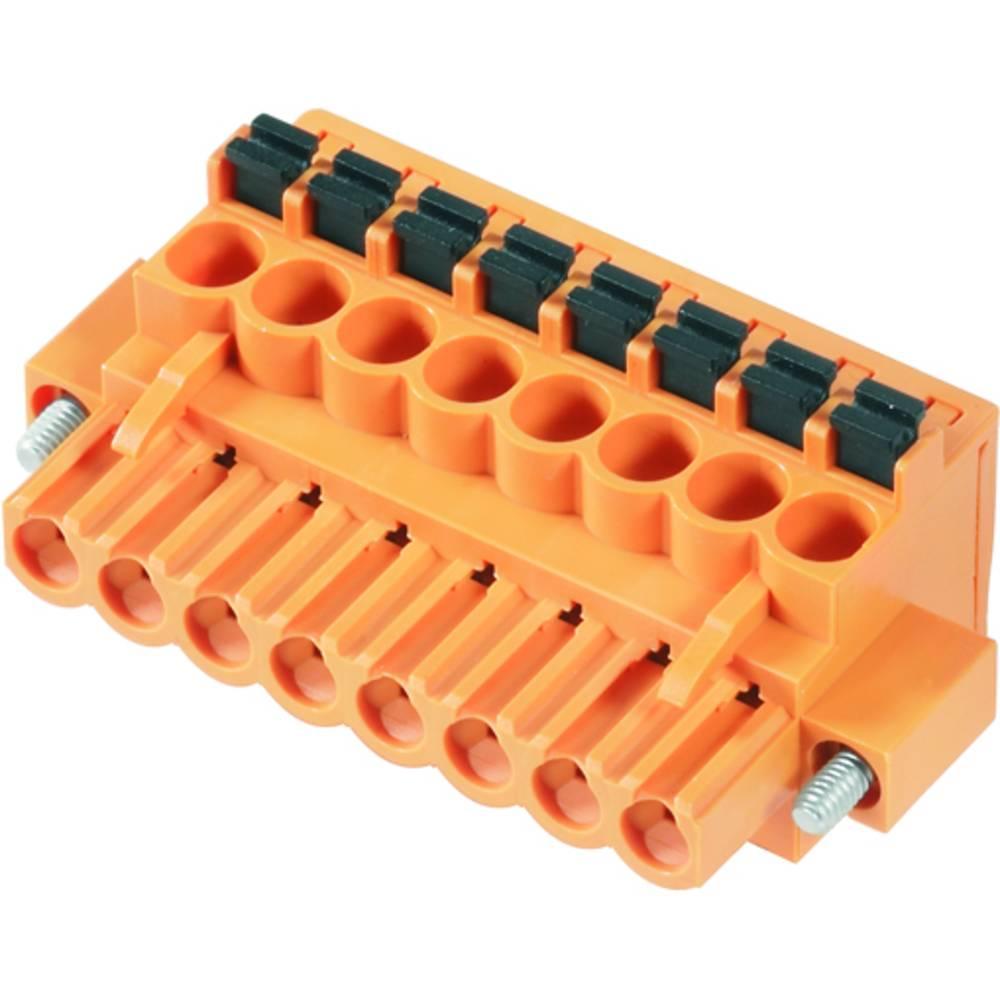 Vtični konektor za tiskana vezja oranžne barve Weidmüller 1980700000 vsebuje: 36 kosov