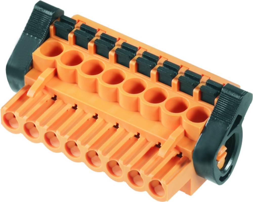 Vtični konektor za tiskana vezja oranžne barve Weidmüller 1980930000 vsebuje: 36 kosov