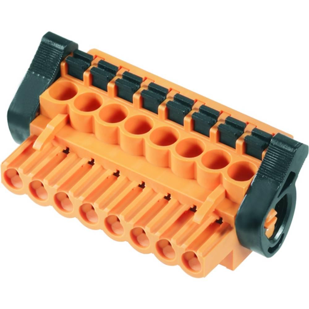 Vtični konektor za tiskana vezja oranžne barve Weidmüller 1980990000 vsebuje: 18 kosov