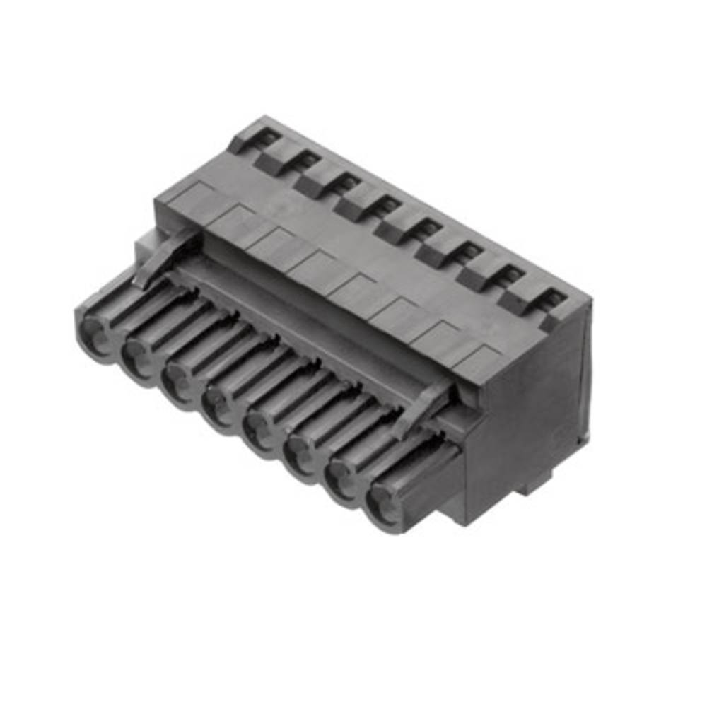 Vtični konektor za tiskana vezja črne barve Weidmüller 1981960000 vsebuje: 72 kosa