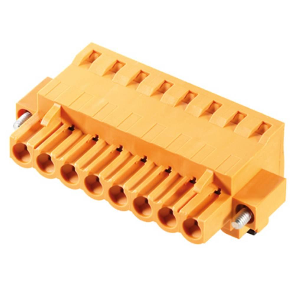 Vtični konektor za tiskana vezja oranžne barve Weidmüller 1983010000 vsebuje: 18 kosov