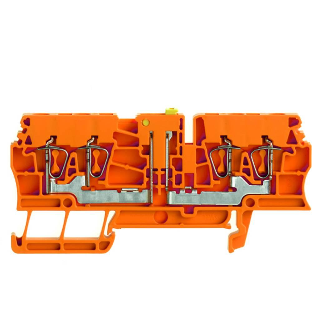 Test-afbryde terminal Weidmüller ZTR 2.5/4AN OR 7920940000 Orange 100 stk