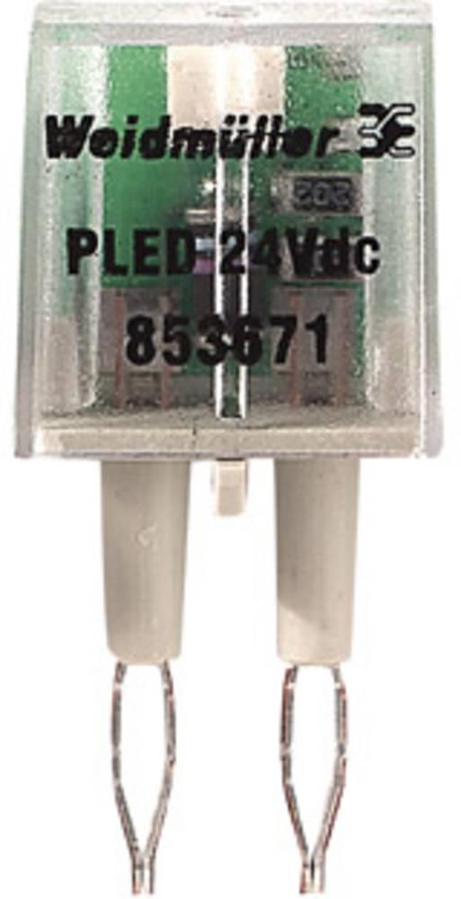 Indstiksmodul med LED, Med friløbsdiode 20 stk Weidmüller PLED 24VDC Passer til serie: Weidmüller serie PLUGSERIES