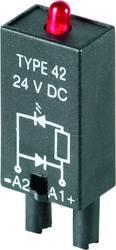 Indstiksmodul med LED, Med friløbsdiode 10 stk Weidmüller RIM 2 6 / 24VDC Lysfarve: Rød Passer til serie: Weidmüller serie RIDER