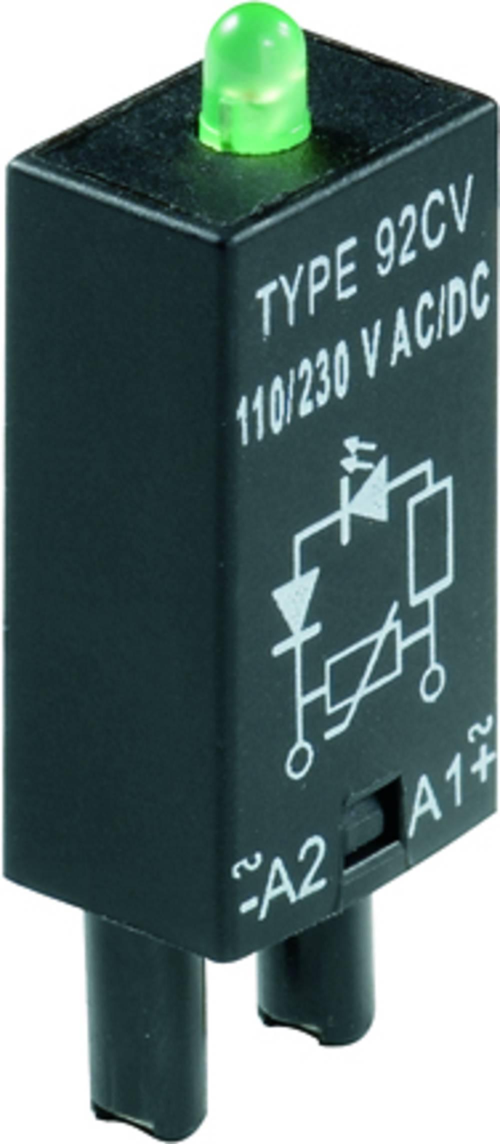 Indstiksmodul med LED 10 stk Weidmüller RIM 3 6 / 24VUC GN Lysfarve: Grøn Passer til serie: Weidmüller serie RIDERSERIES RCL