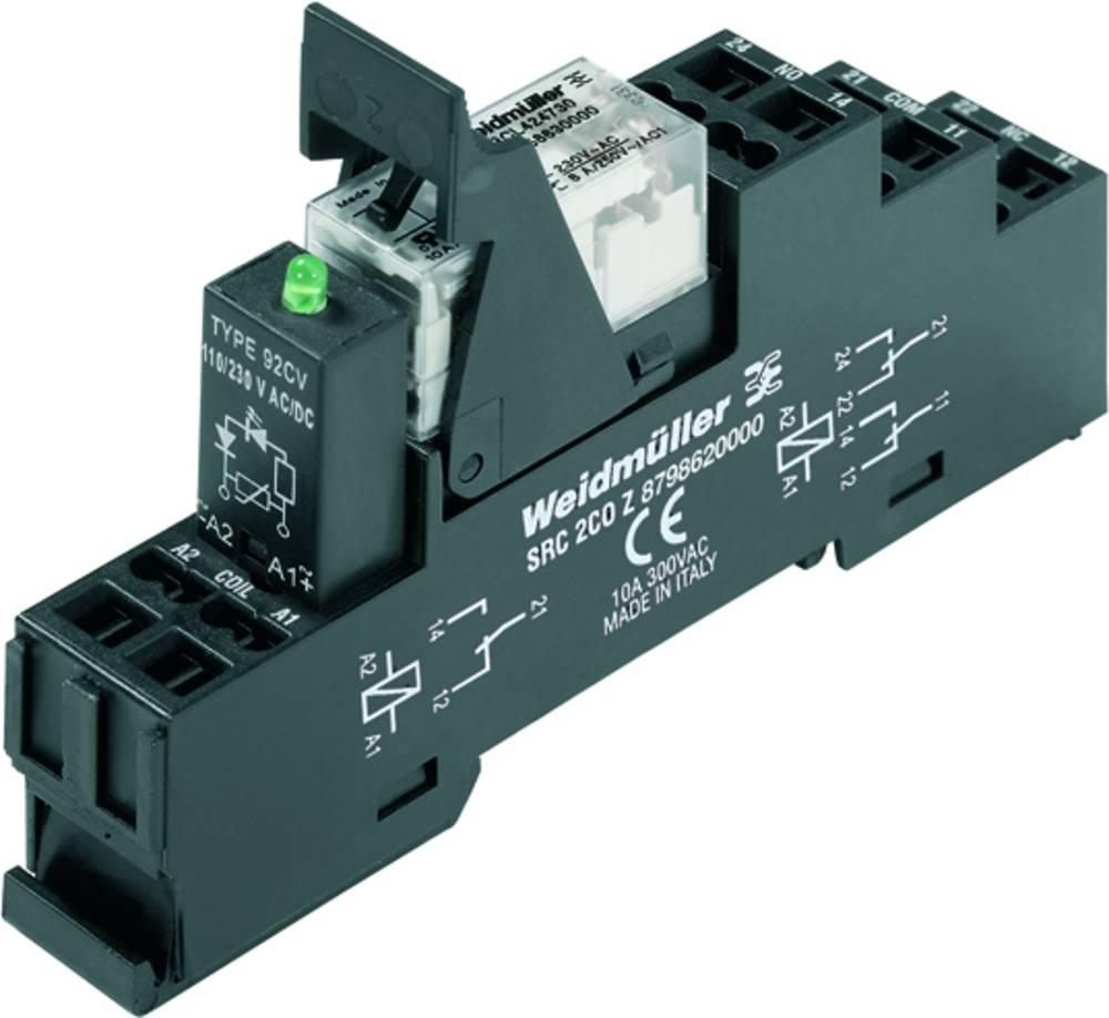 Relækomponent 10 stk Weidmüller RCLKITZ 24VDC 1CO LED Nominel spænding: 24 V/DC Brydestrøm (max.): 16 A 1 x skiftekontakt