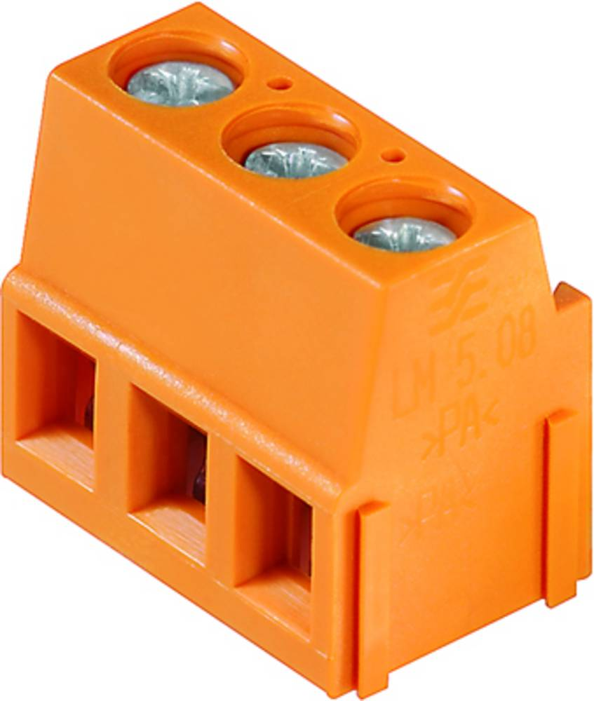 Skrueklemmeblok Weidmüller LM 5.08/15/90 3.5SN OR BX 2.50 mm² Poltal 15 Orange 50 stk