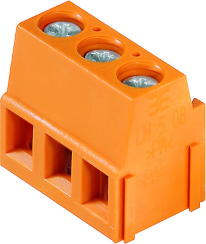 Skrueklemmeblok Weidmüller LM 5.08/23/90 3.5SN OR BX 2.50 mm² Poltal 23 Orange 50 stk