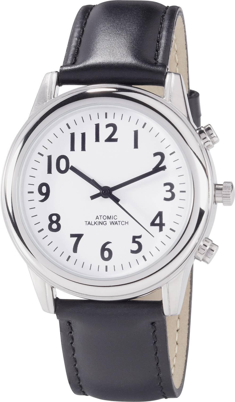 Zapestna ura RATK34-A307-01 9070c14 (Ø x V) 42 mm x 16 mm srebrne barve, ohišje: legirano jeklo, usnjeni pašček, CE