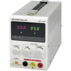 Laboratoriestrømforsyning, indstillelig Basetech BT-153 0 - 15 V/DC 0 - 3 A 45 W Antal udgange 1 x