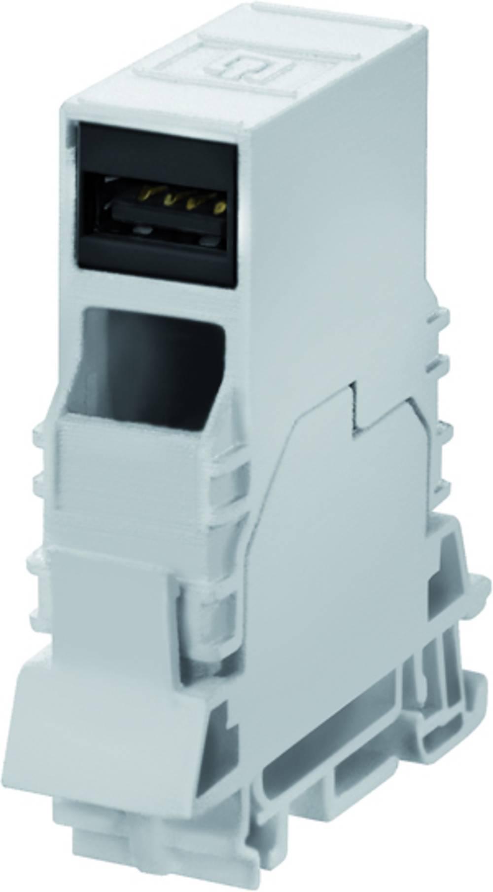 Sensor- /aktor-stikforbinder til indbygning Weidmüller IE-TO-USB 10 stk