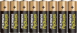Batteri R6 (AA) Alkaliskt Duracell Simply LR06 1.5 V 8 st