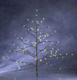 Utomhus LED-design träd Konstsmide 3371-006 Ljusgren Varmvit LED Brun