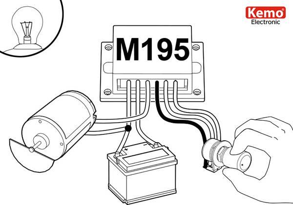 kemo m195 pwm power controller component 9 v dc  12 v dc  24 v dc  28 v dc