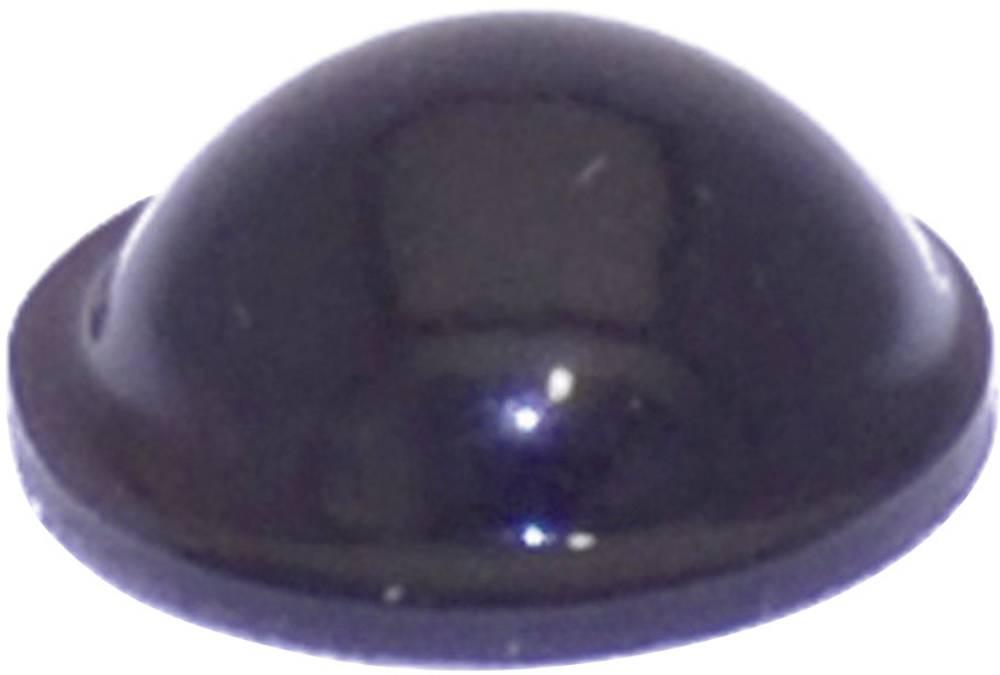 Chassisfod TOOLCRAFT PD2095SW Selvklæbende, Rund Sort (Ø x H) 9.5 mm x 3.8 mm 1 stk