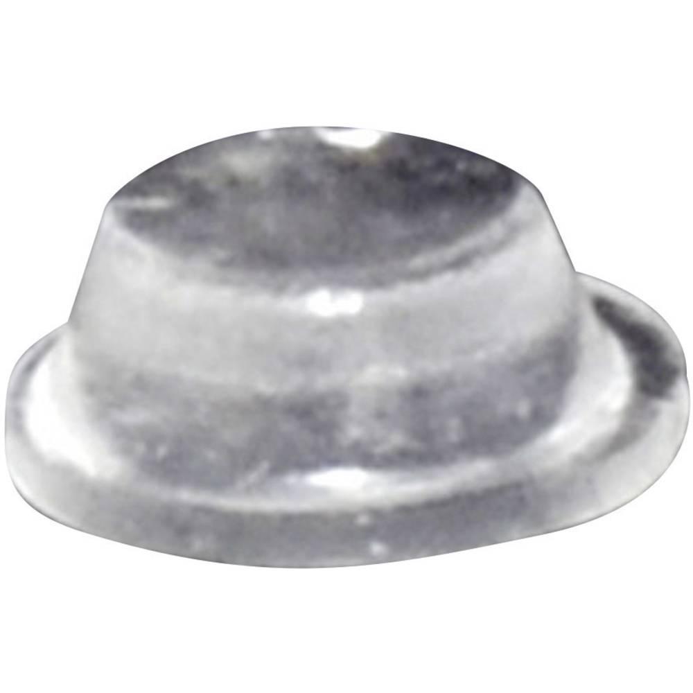 Chassisfod TOOLCRAFT PD2075C Selvklæbende, Rund Transparent (Ø x H) 8 mm x 3 mm 1 stk