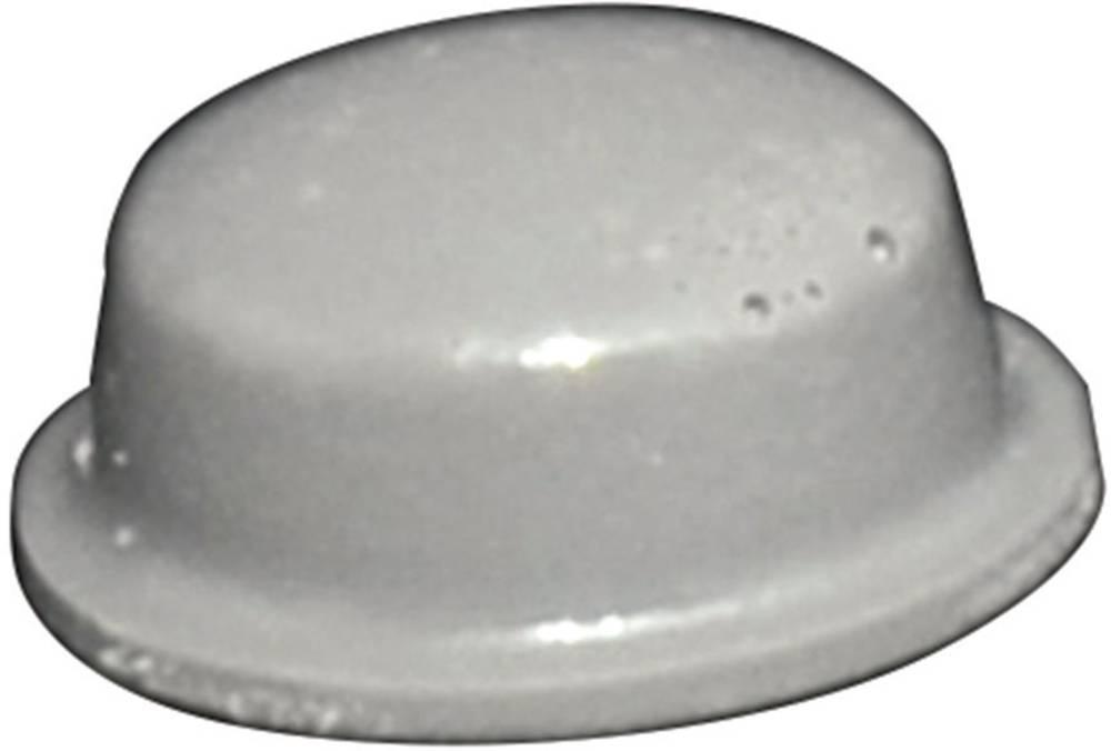 Chassisfod TOOLCRAFT PD2115G Selvklæbende, Rund Grå (Ø x H) 11.1 mm x 5 mm 1 stk