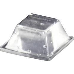 Chassisfod TOOLCRAFT PD2126C Selvklæbende, Kvadratisk Transparent (L x B x H) 12.6 x 12.6 x 5.7 mm 1 stk