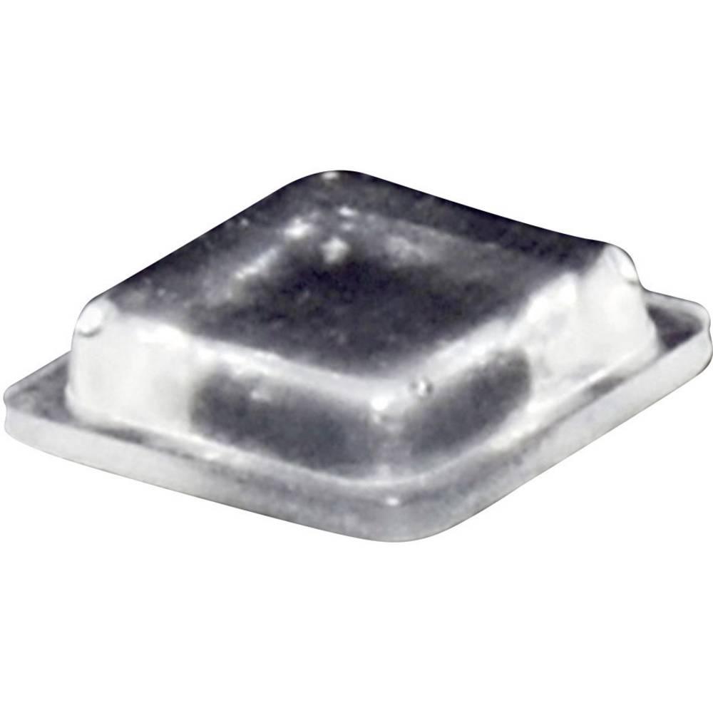 Chassisfod TOOLCRAFT PD2100C Selvklæbende, Kvadratisk Transparent (L x B x H) 10 x 10 x 2.5 mm 1 stk