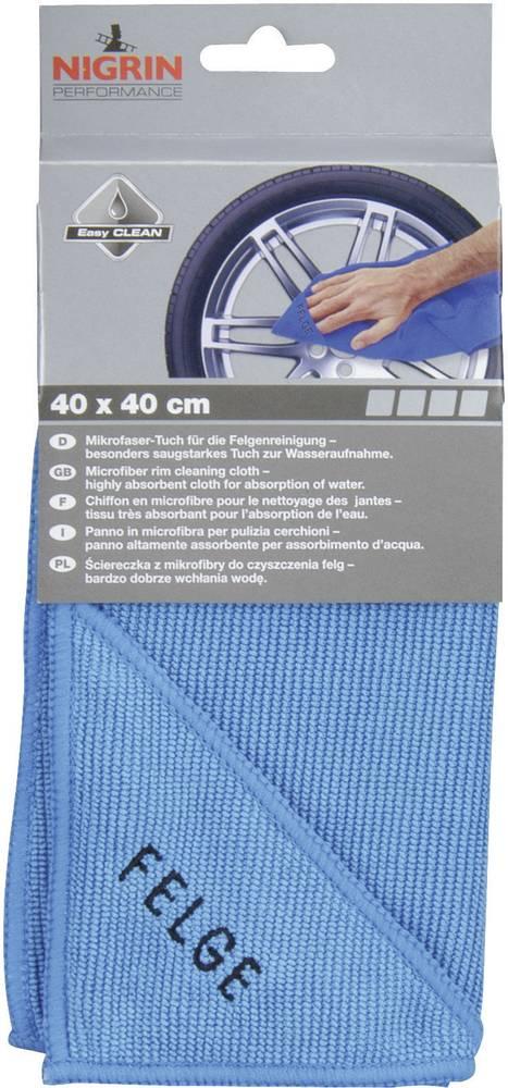 Krpa od mikrovlakana Nigrin 71118, za naplatke, (D x Š) 40 mmx 40 mm, 1 komad
