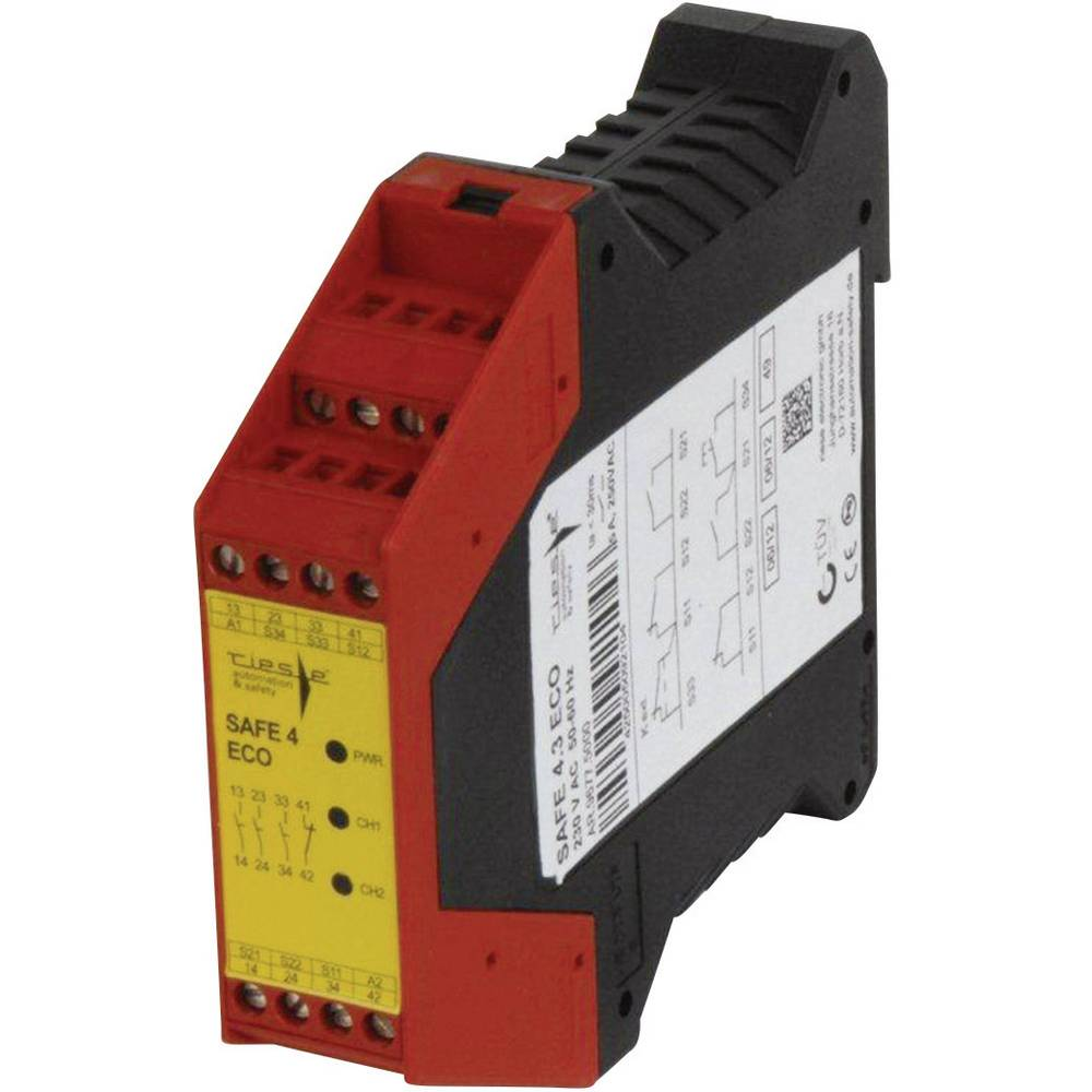 Safety Relay 1 Pcs Safe 43eco Riese Operating Voltage 24 Vdc Circuit