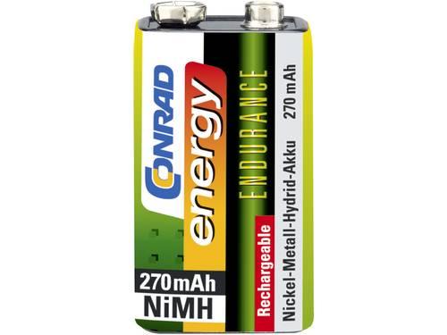 Oplaadbare 9V batterij (blok) Conrad energy Endurance 6LR61 NiMH 8.4 V 270 mAh 1 stuks