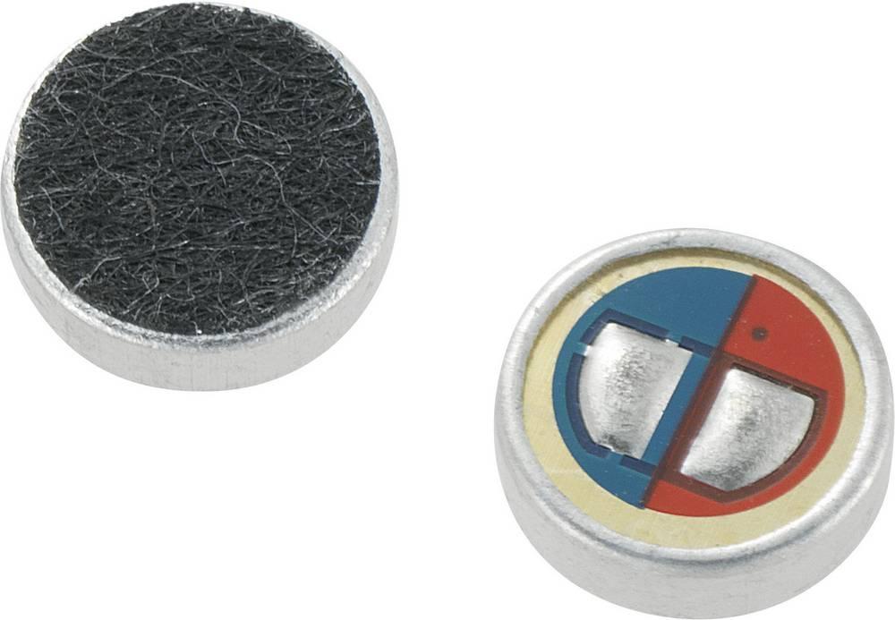 Elektret mikrofonska kapsula YDF, obratovalna napetost 4,5 - 10 V/DC, občutljivost -56 dB, frekvenčno območje 70 - 1000 Hz, 1 ko