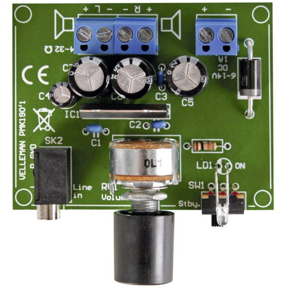 Velleman 2 x 5 W ojačevalnik za MP3 predvajalnik MK190 modul 6-14 V / DC