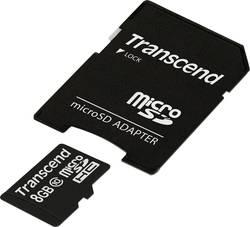 MicroSDHC-kort Transcend Premium Class 10 8 GB inkl. SD-adapter
