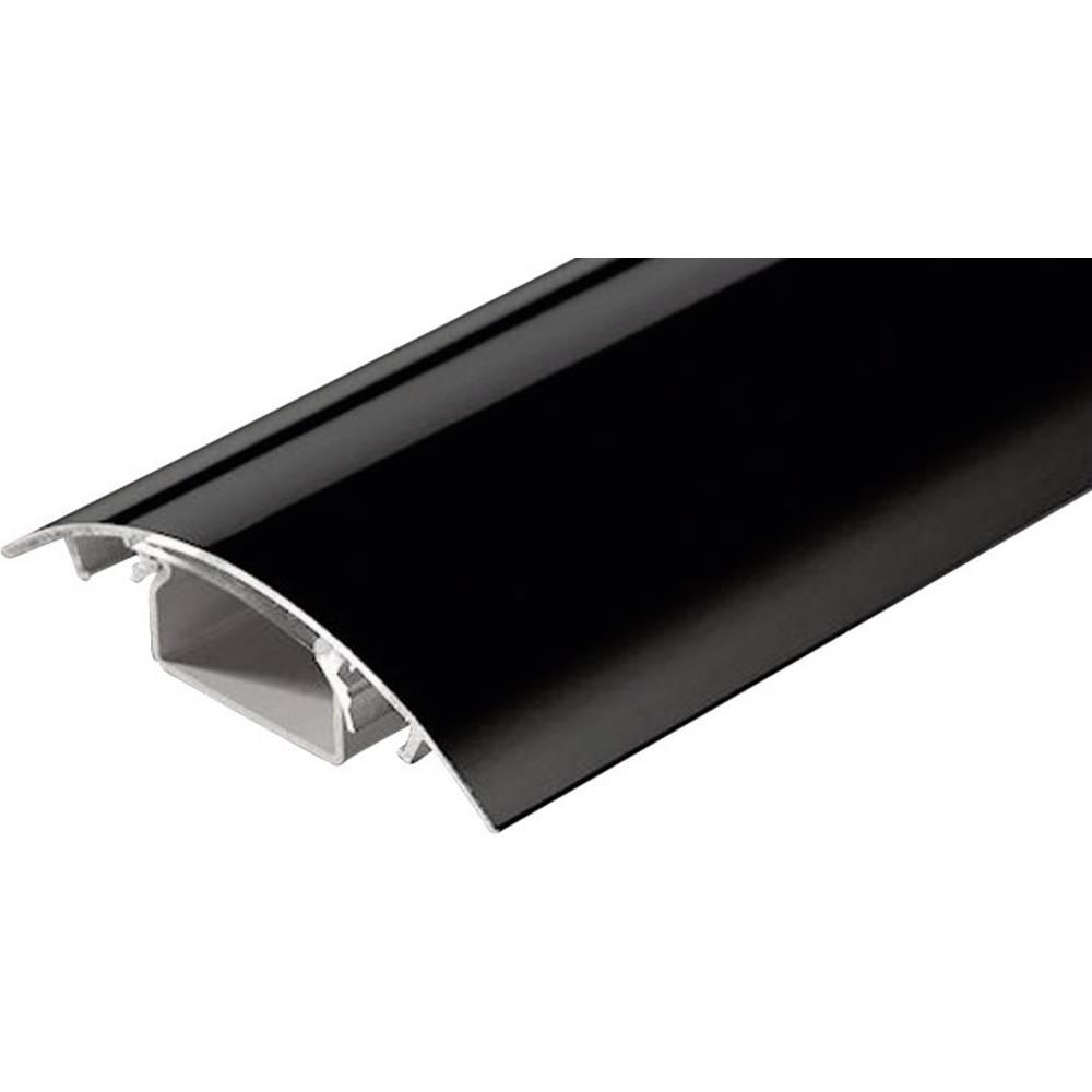 Kabelski kanal, (D x Š x V) 500 x 80 x 20 mm, črne barve (svetleče), vsebina: 1 kos SC90-050 Alunovo