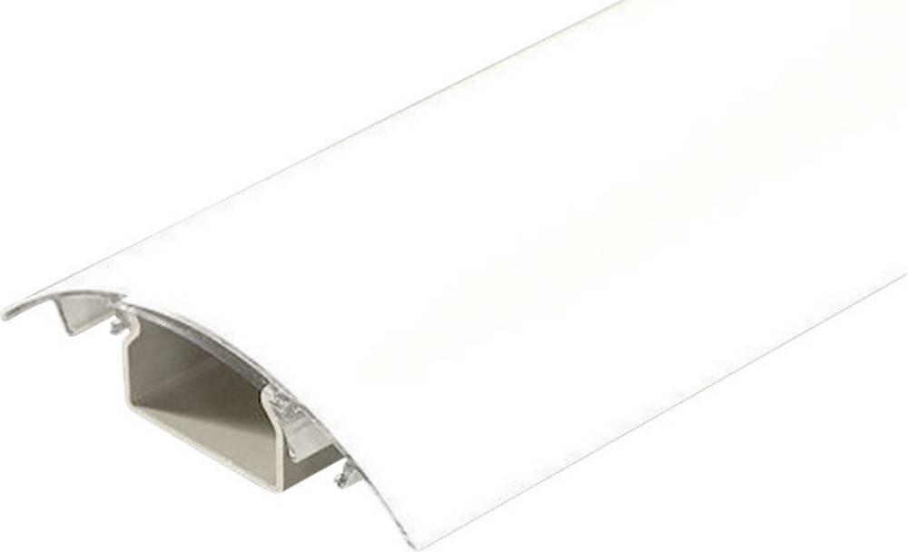 Kabelski kanal, (D x Š x V) 1.000 x 80 x 20 mm, bele barve (mat), vsebina: 1 kos WE90-100 Alunovo