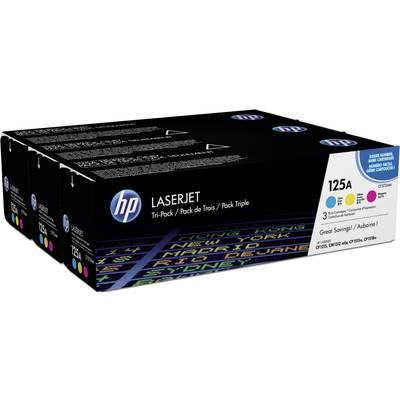 HP Toner cartridge combo pack 125A CF373AM Original Cyan, Magenta, Yellow