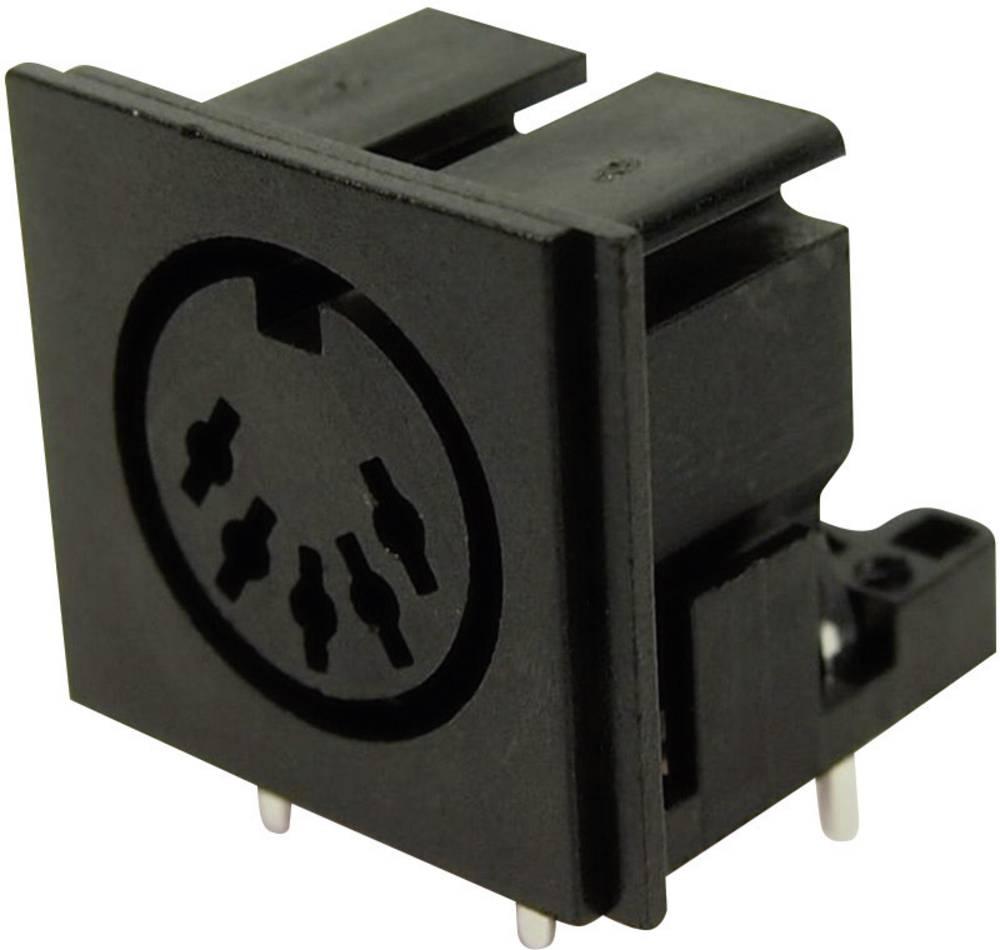 DIN-okrogli vtični konektor za vtičnico, vgraden horizontalen število polov: 5 črne barve Cliff FC680805 1 kos