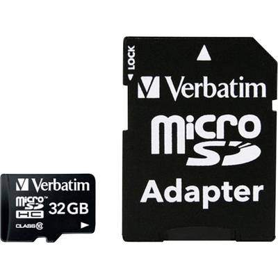 Verbatim MICRO SDHC 32GB CL 10 ADAP microSDHC card 32 GB Class 10 incl. SD adapter