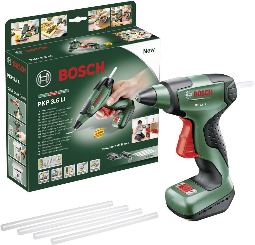 Pištola za vroče lepljenje Bosch PKP 3,6 LI, 0603264600, 5,4 Wh, 7 mm, 15 s