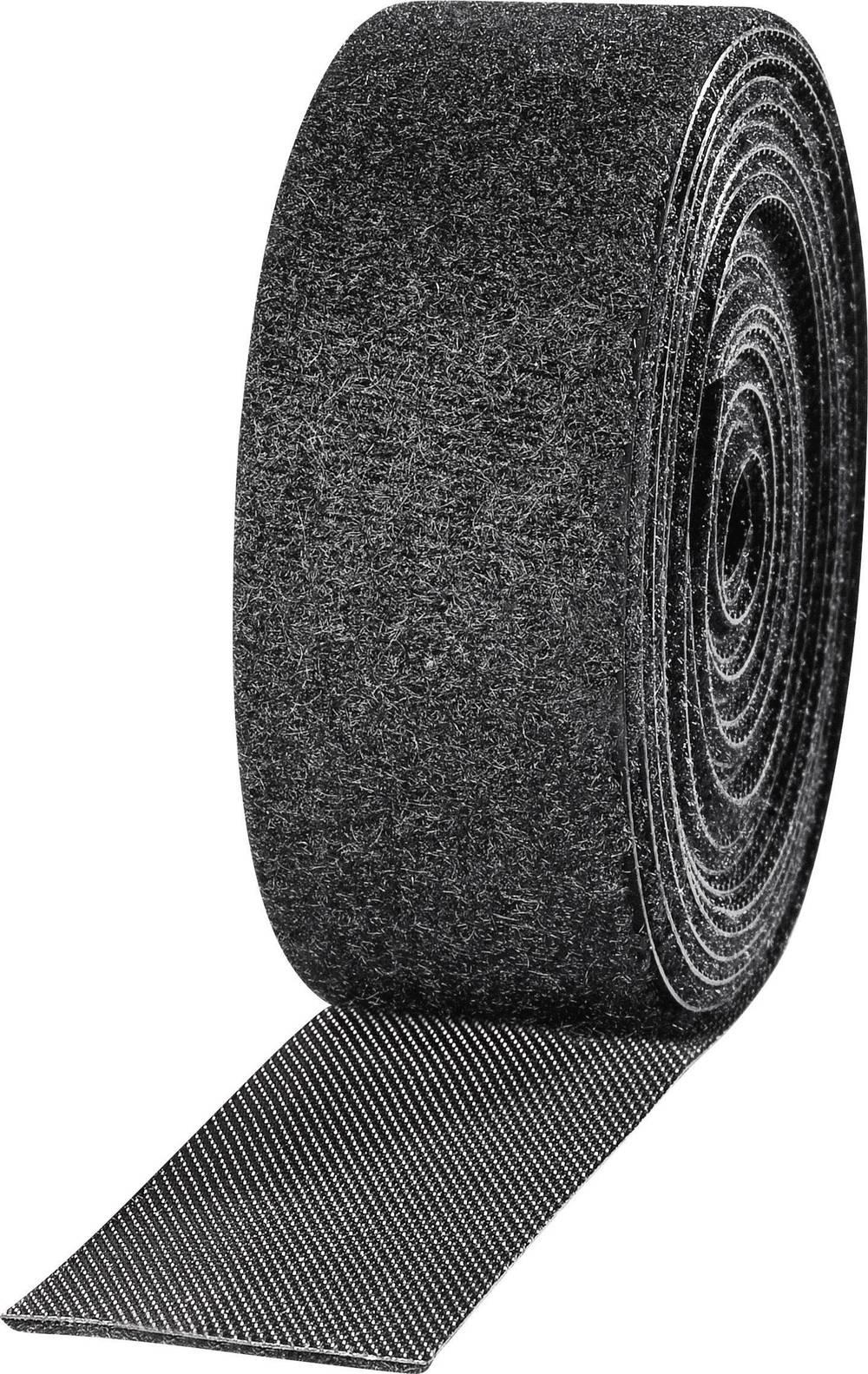 Traka s čičkom za vezanje ETN FAST-Strap Fastech prianjajući i mekani dio (D x Š) 2.5 m x 25 mm crna TOOLCRAFT KL25X2500C 2 kolu