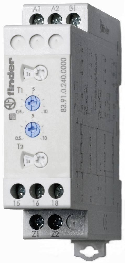 Multifunkcijski industrijski časovni rele asimetrični dajalnik takta 83.91.0.240.0000 Finder 24 - 240 V DC/AC 1 izmenjevalnik 16