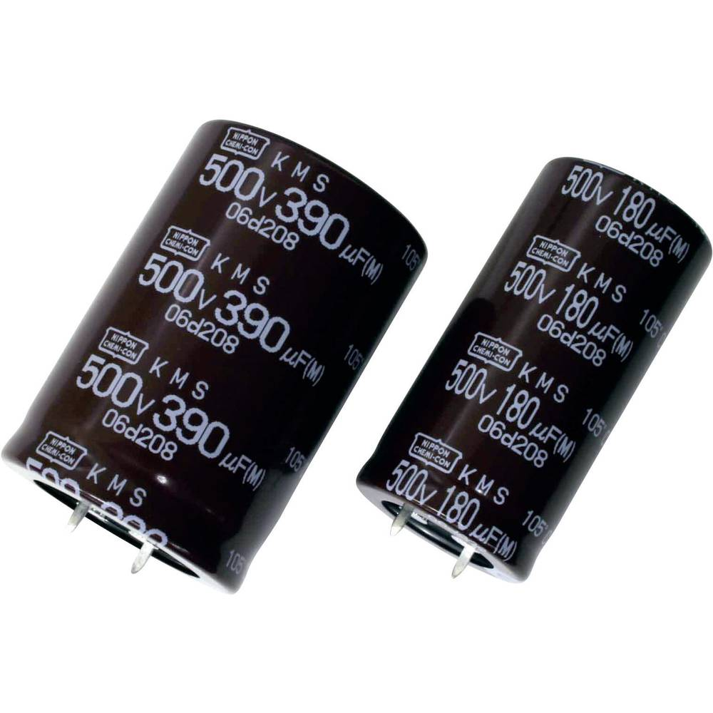 Elektrolitski kondenzator SnapIn 10 mm 680 µF 400 V 20 % (promjer x D) 35 mm x 45 mm Europe ChemiCon ELXS401VSN681MA45S 10