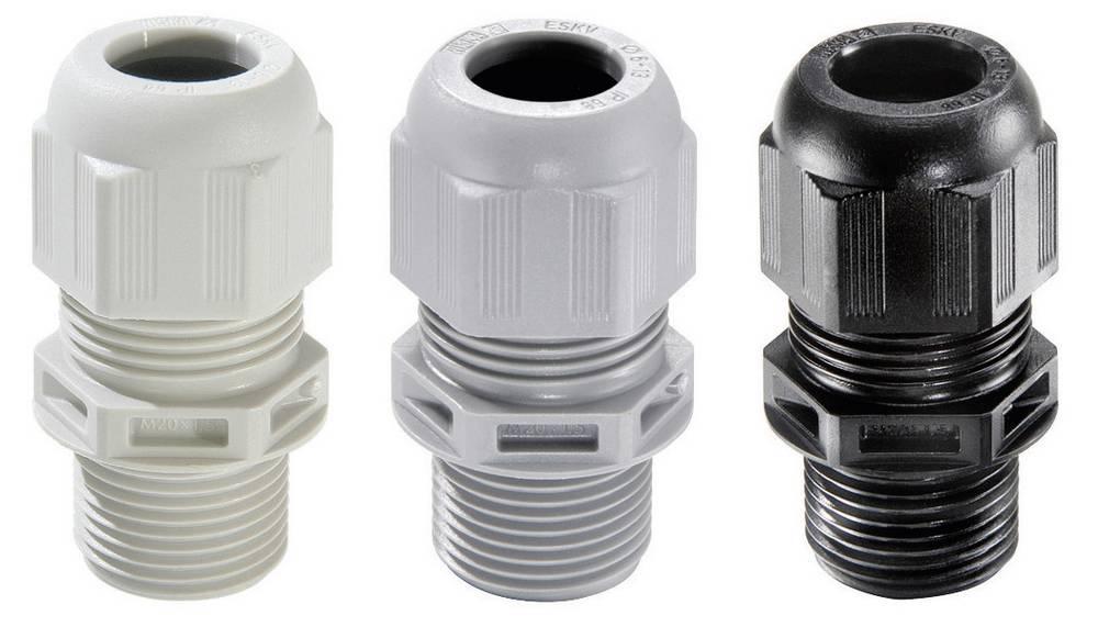 Kabelska uvodnica M40 poliamid srebrno-sive barve (RAL 7001) Wiska ESKV-L 40 LT 10 kosov