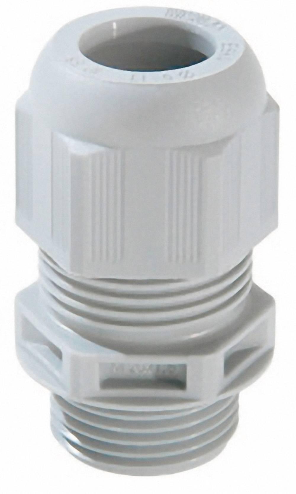 Kabelska uvodnica M25 poliamid, svetlo sive barve (RAL 7035) Wiska ESKV-F- 25 50 kosov