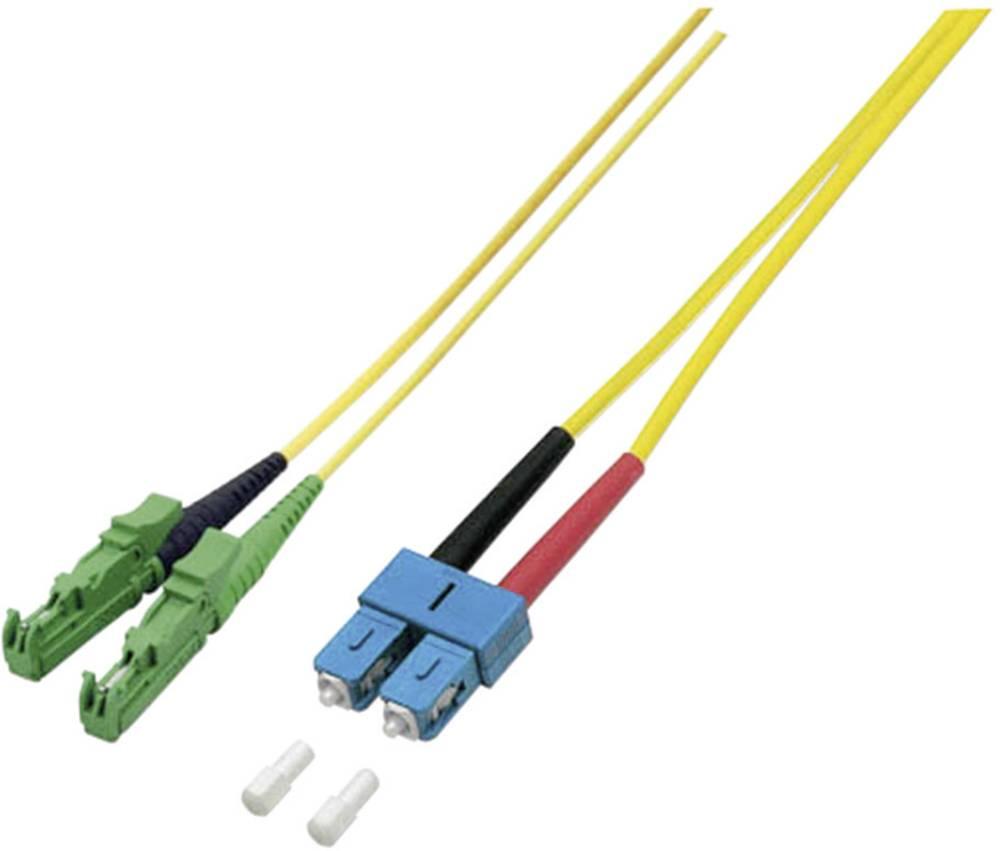 Optični priključni kabel [1x E2000®/APC 8° vtič - 1x SC vtič] 9/125µ Singlemode OS2 5 m EFB Elektronik