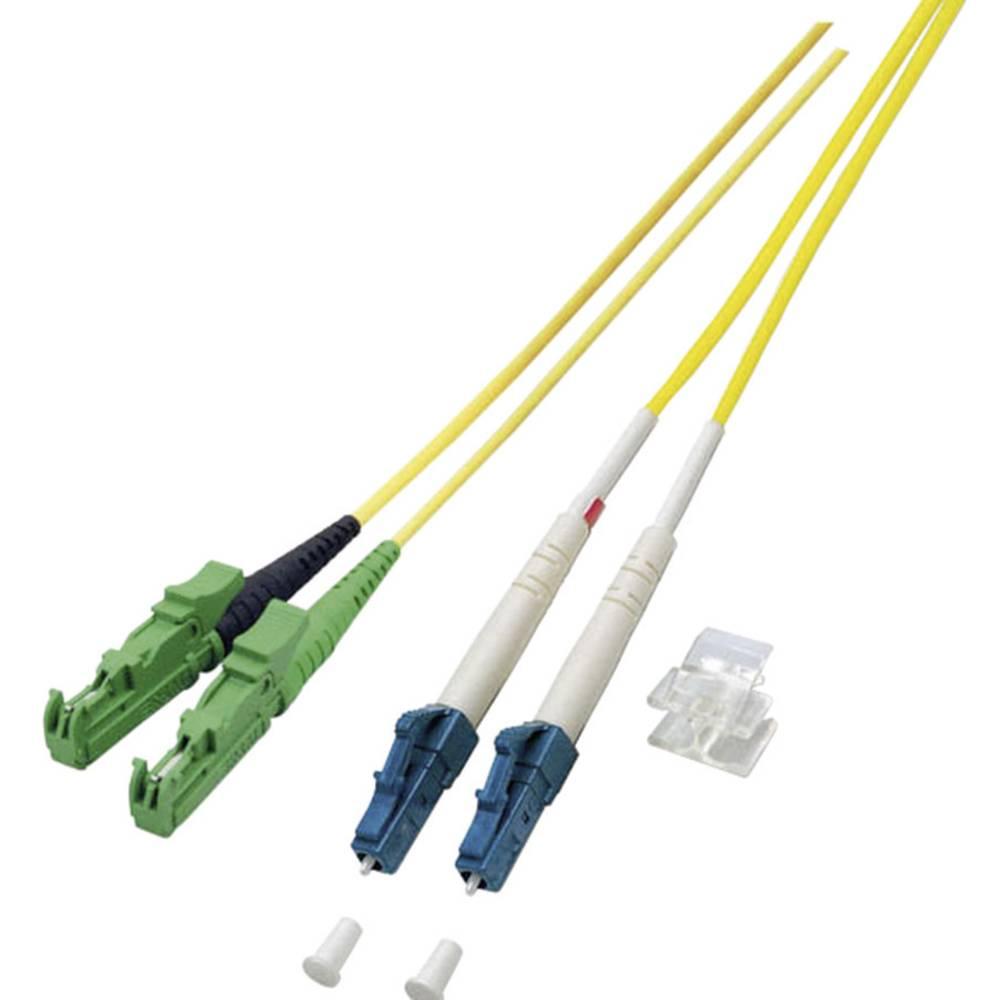 Optični priključni kabel [1x E2000®/APC 8° vtič - 1x LC vtič] 9/125µ Singlemode OS2 15 m EFB Elektronik