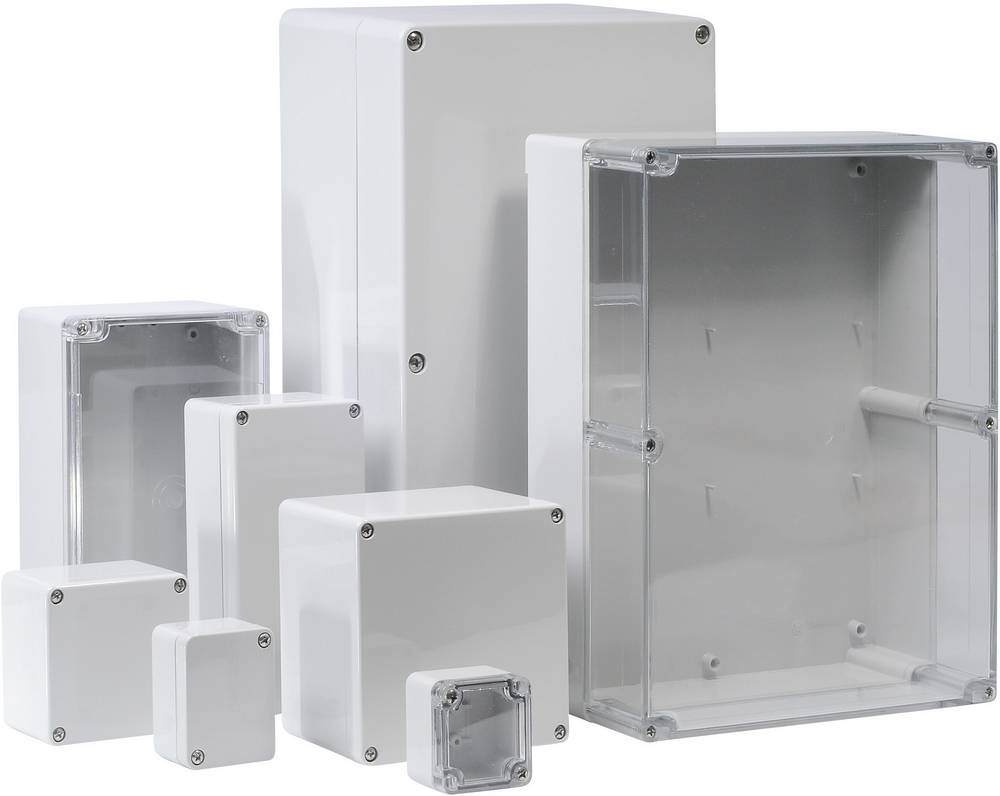Universalkabinet 240 x 160 x 120 Polycarbonat Lysegrå (RAL 7035) Bernstein AG CT-861 1 stk