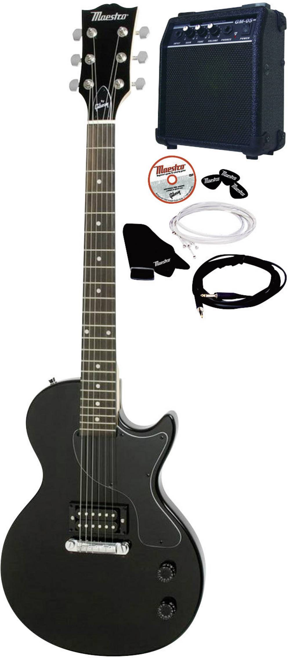 Electric Guitar Kit Maestro By Gibson Melpbkch Black Incl Amplifier