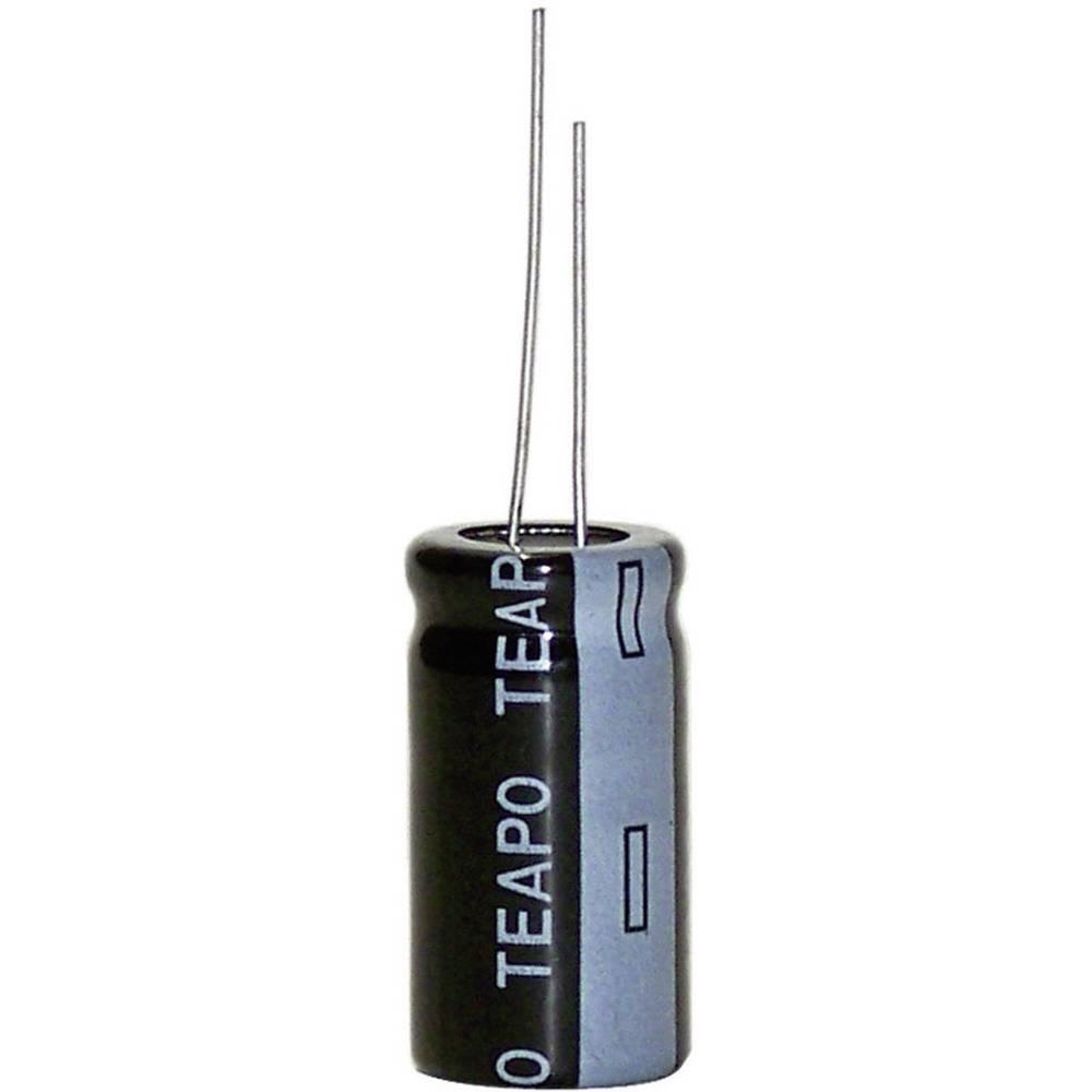 Elektrolitski kondenzator, radijalno ožičen 5 mm 220 µF 63 V 20 % (promjer x V) 10 mm x 20 mm KSE227M063S1GBH20K 1 kom.