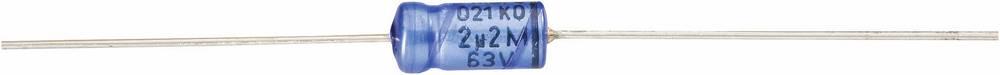 Vishay Aksijalni kondenzator serije 021 2222 021 37221 (Š xD) 10 mm x 18 mm