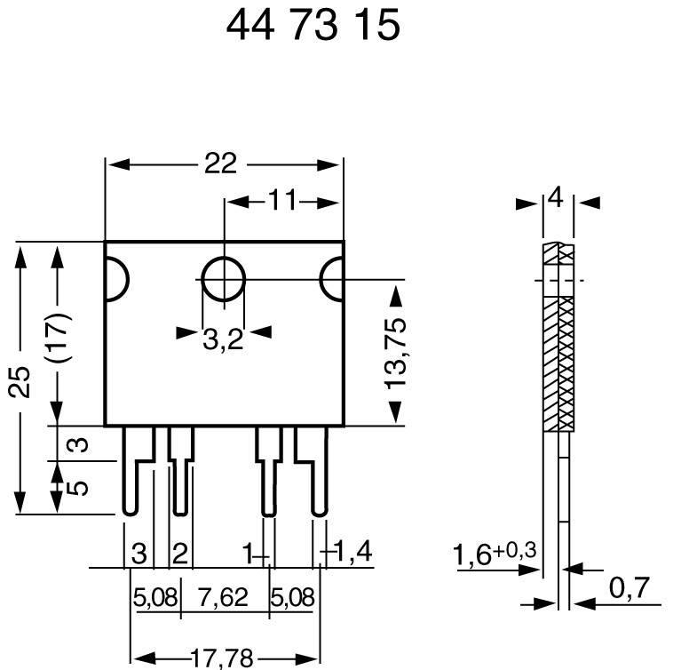 L x B x H 22 x 4 x 17 mm 1 Isabellenhütte PBV 0,01 Messwiderstand 0.01 Ω 10 W