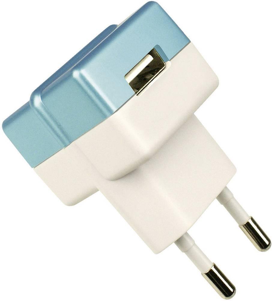 ECO vtič/omrežni del z USB izhodom moder HNP05-ECO-BLUE-C HN Power
