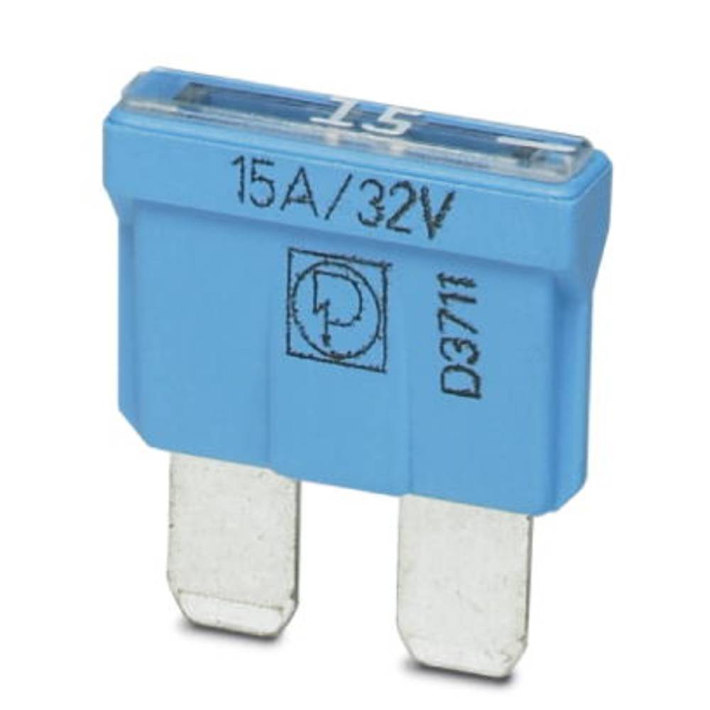 Standard fladsikring 15 A Blå Phoenix Contact SI FORM C 15 A DIN 72581 0913676 50 stk