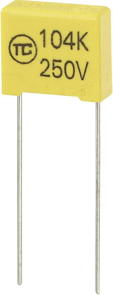 MKS-folijski kondenzator, radijalno ožičen 0.1 µF 250 V/DC 5 % 10 mm (D x Š x V) 13 x 6 x 12 mm 1 kos